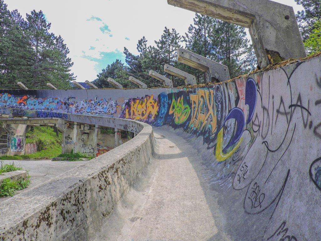 Bosnia and Herzegovina Abandoned Bobsled Track