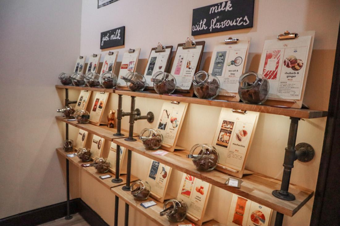 Tasting Types of Chocolates The Chocolatarium Activities Tours on Royal Mile Edinburgh
