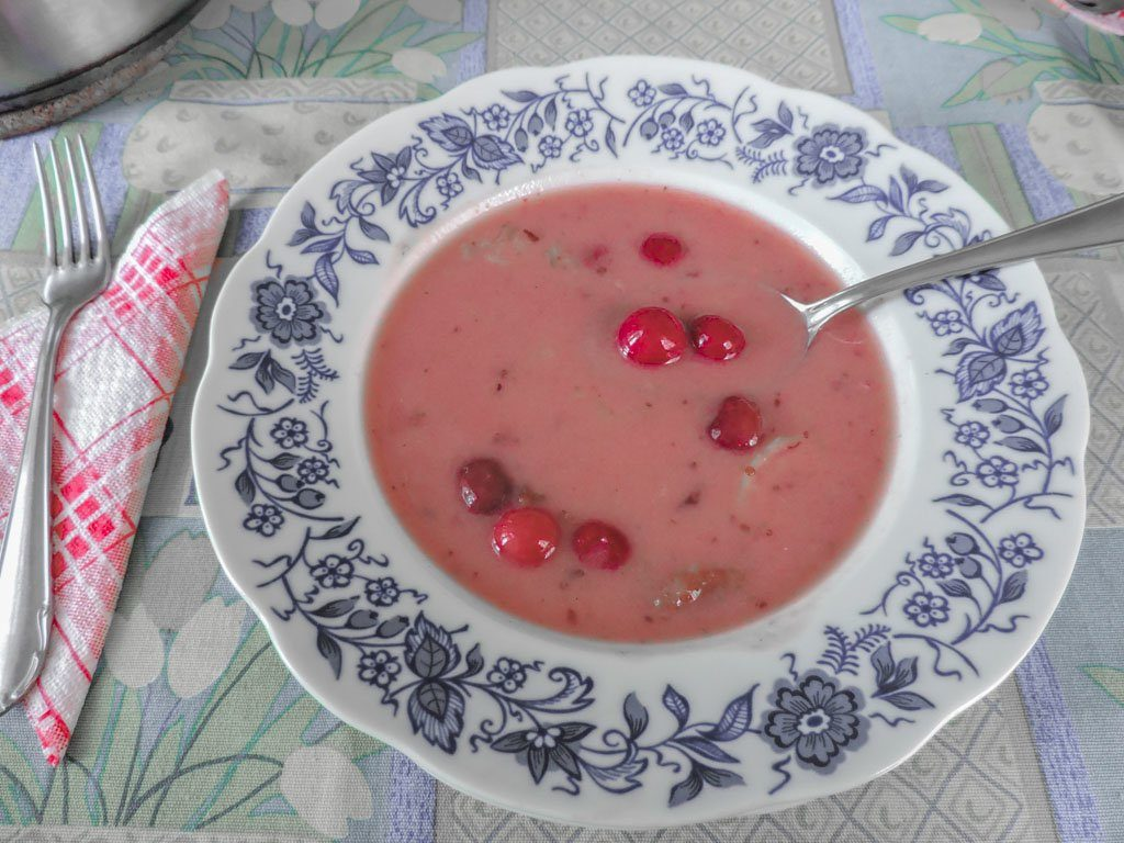 Sour Cherry Soup | Budapest Restaurants
