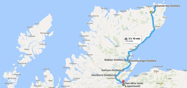 North Coast 500 Itinerary Distilleries