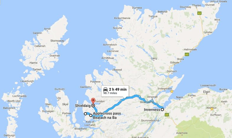 North Coast 500 Itinerary Inverness to Torridon
