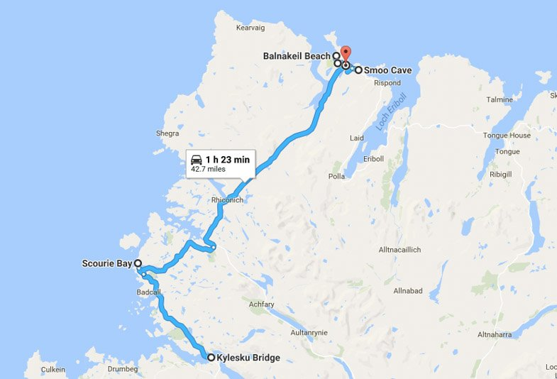North Coast 500 Itinerary Route North Coast 500 Itinerary Route Ullapool to Kylesku Bridge to Durness