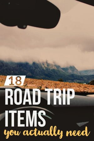 Road trip packaging list / Road trip items