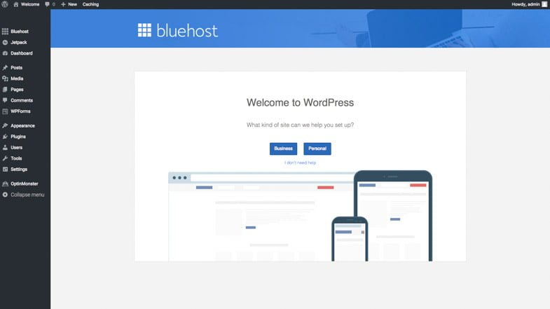 Wordpress - Start a blog Bluehost