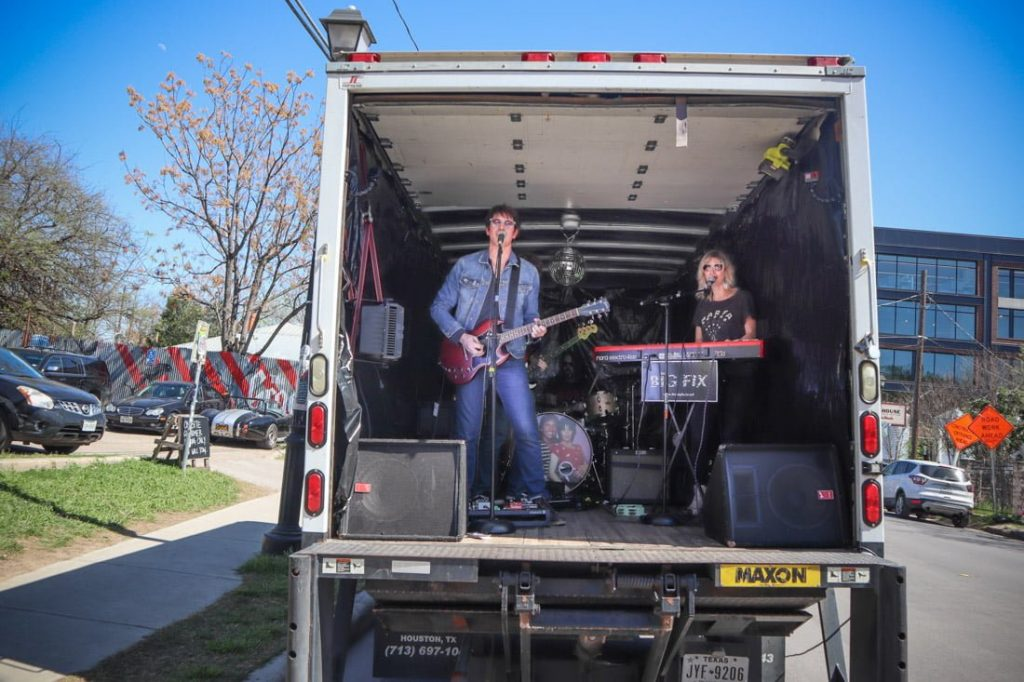 Band in Van East 6th Austin Texas SXSW
