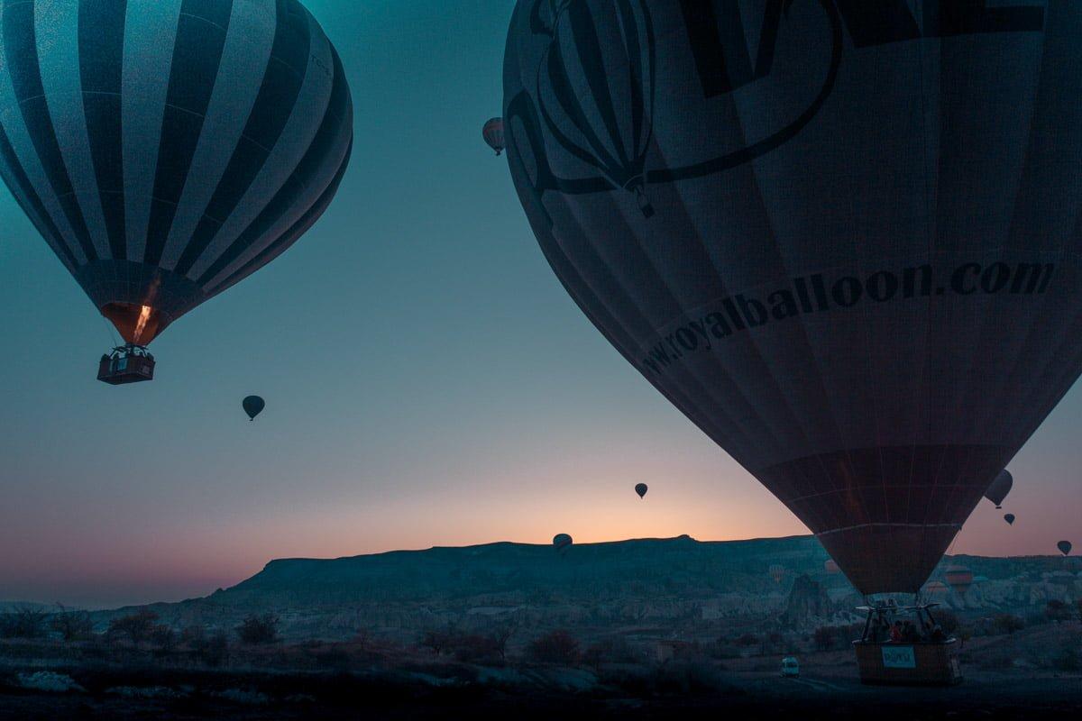 Sunrise hot air balloon rides Turkey