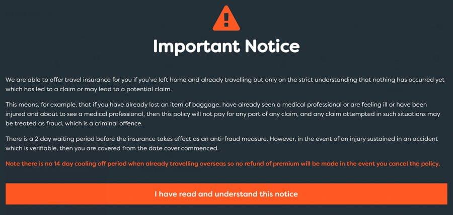 True Traveller Book Insurance White Abroad
