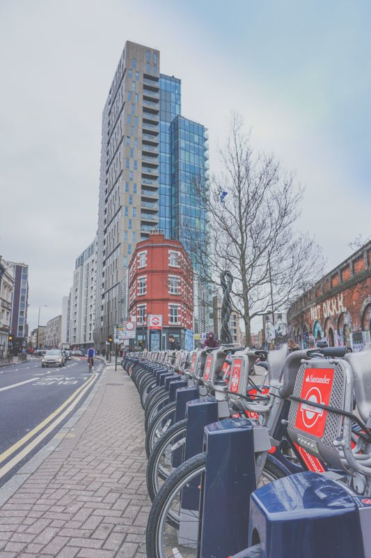 Santander London Bike Scheme Docking Station