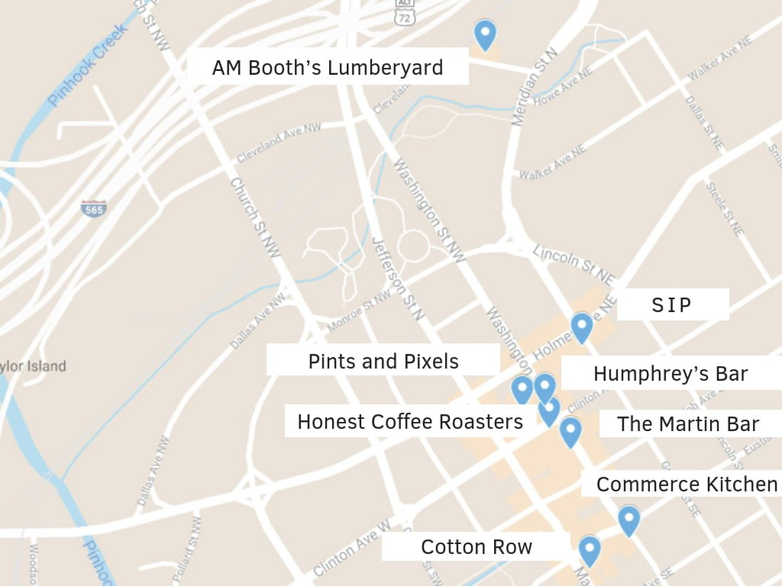 Huntsville Restaurants Downtown