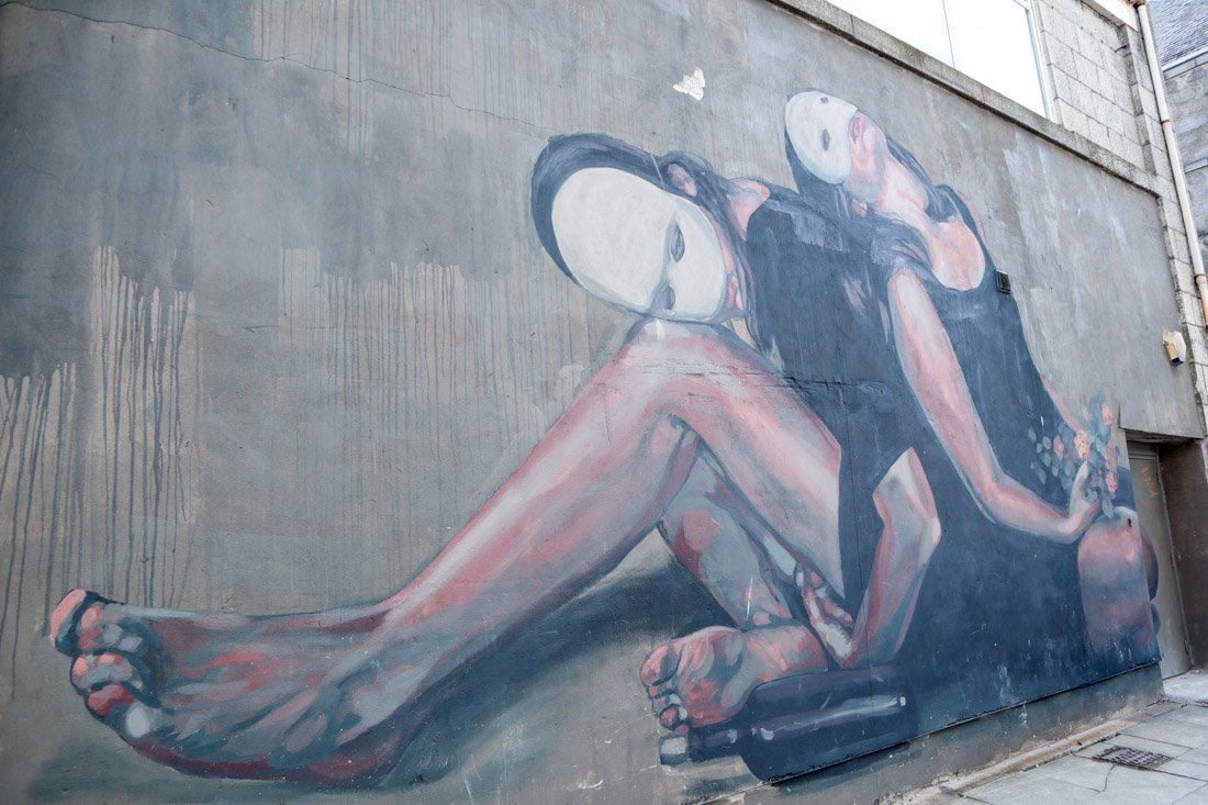 Street Art Union Row Dancers