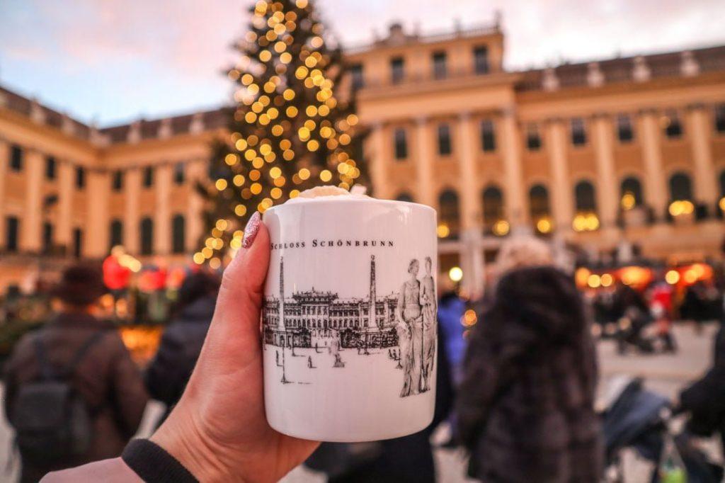 Schoenbrunn Palace Christmas Market Vienna Austria