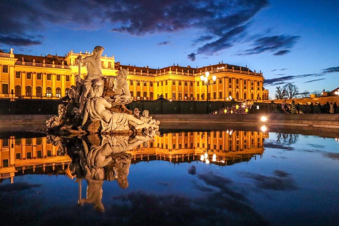 Schoenbrunn Palace December Vienna Austria