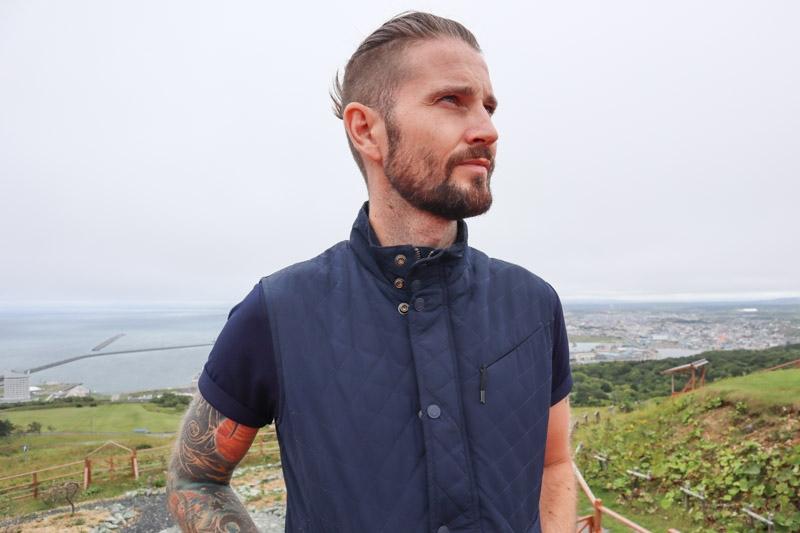 Craig wearing Bluffworks vest
