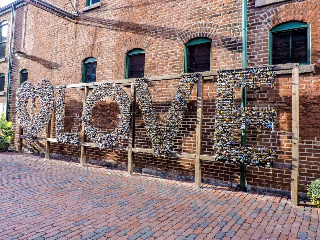 Love Locks Toronto Distillery District