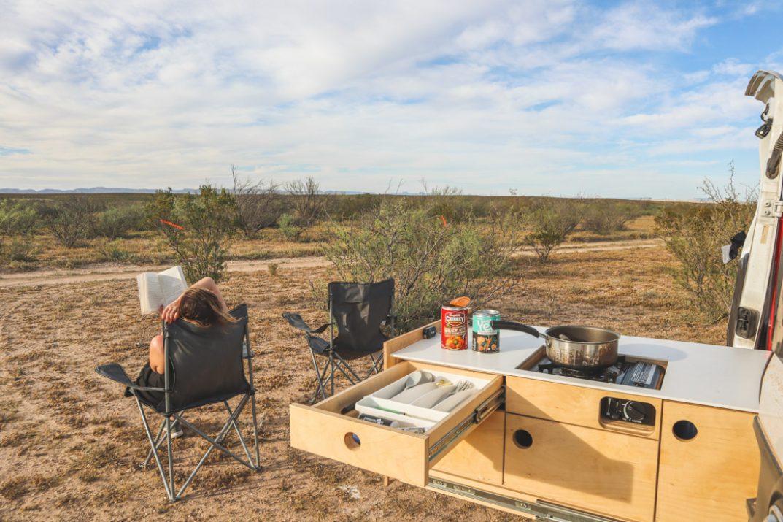 Camper Van Big Bend Texas