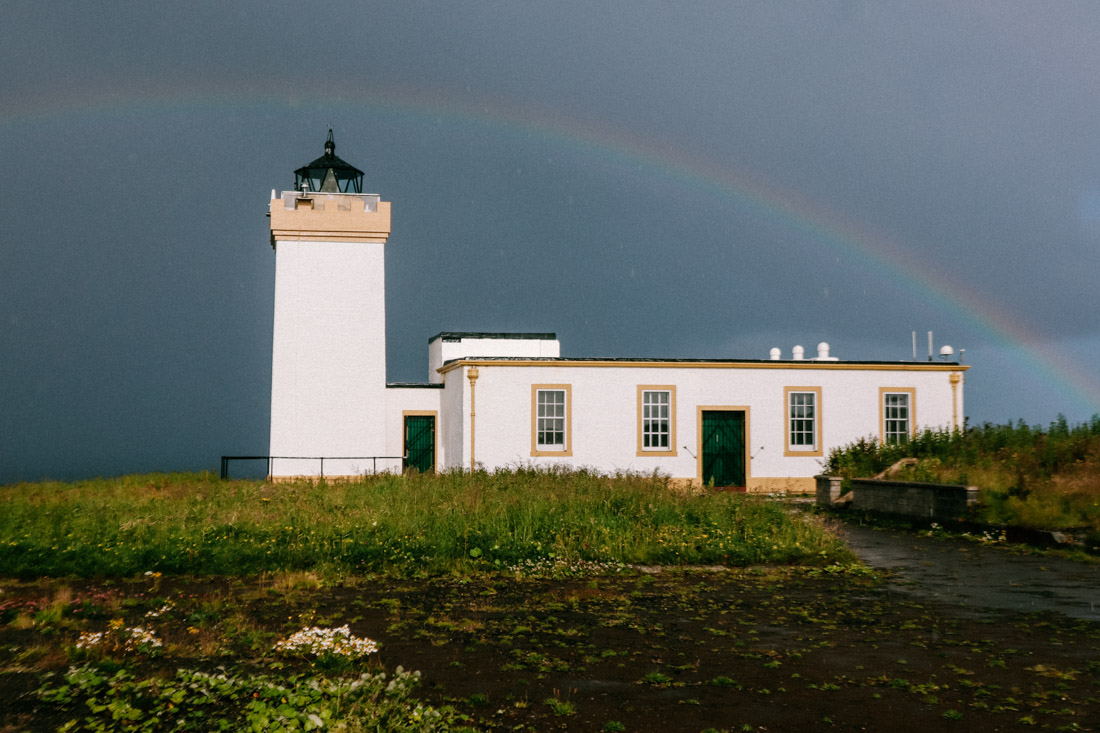 Duncansby Lighthouse Rainbow North Coast 500 Scotland_