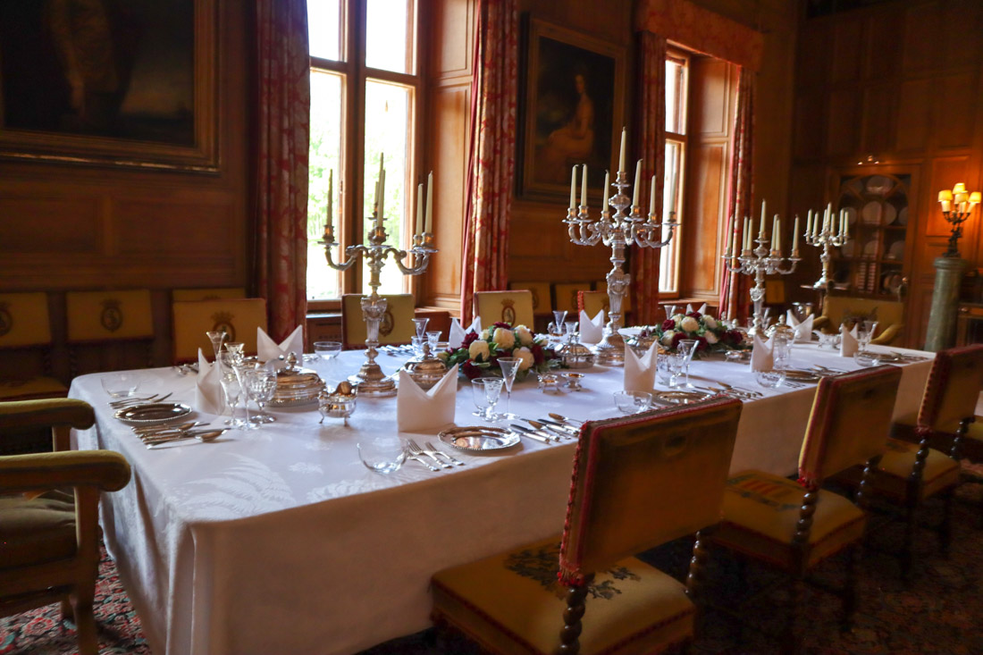 Dunrobin Castle Dining Room North Coast 500 Scotland_