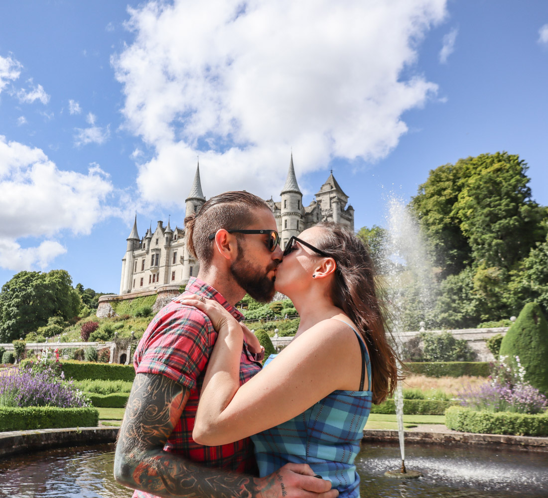 Dunrobin Castle Gemma Craig Kiss Fountain gardens North Coast 500 Scotland_