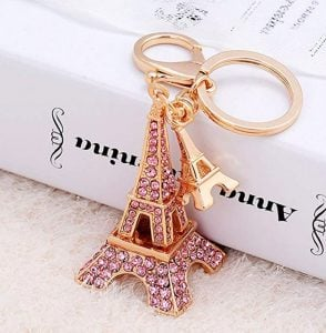 Eiffel Tower keyring rose gold