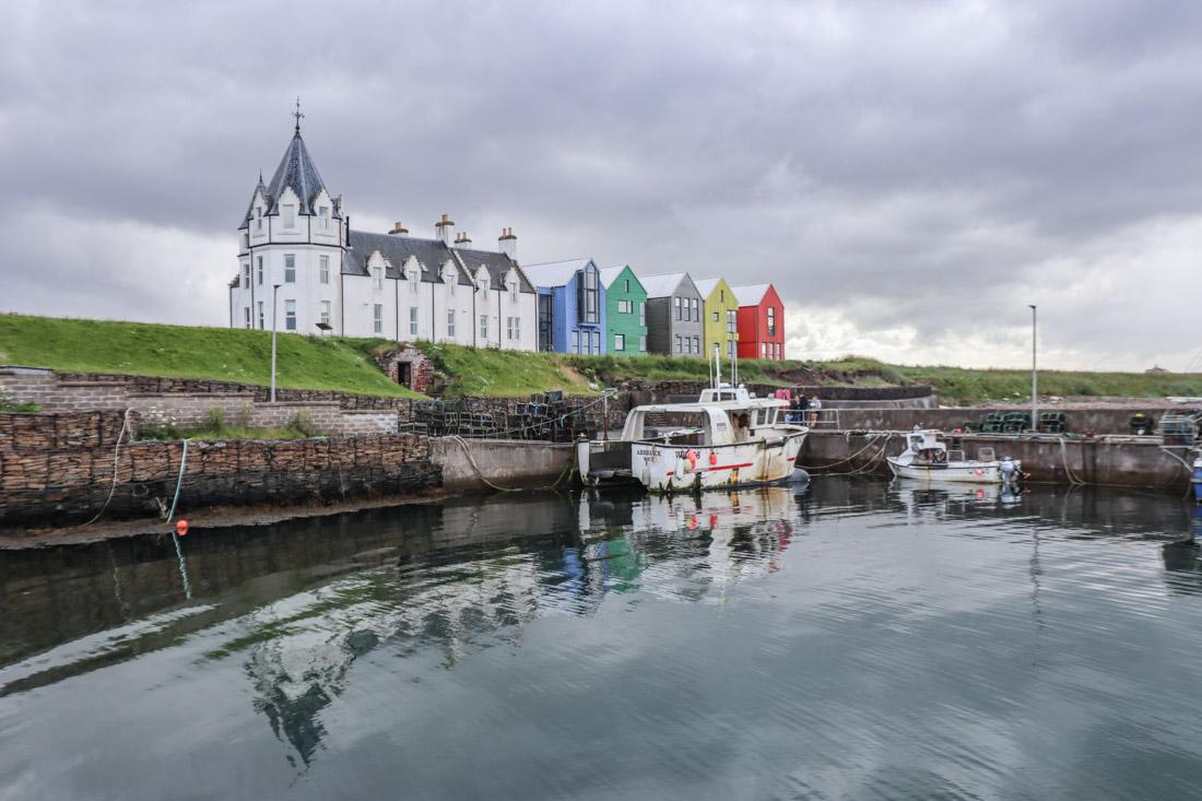 John o Groats Boat Houses Dark North Coast 500 Scotland_