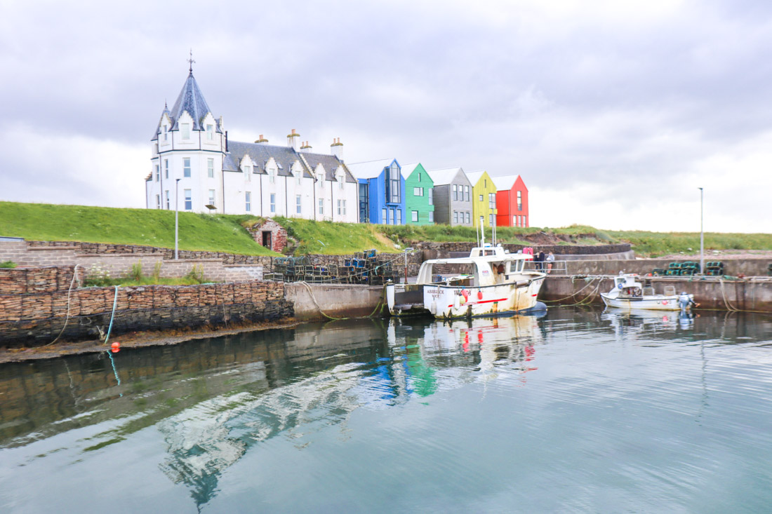John o Groats Boat Houses North Coast 500 Scotland_