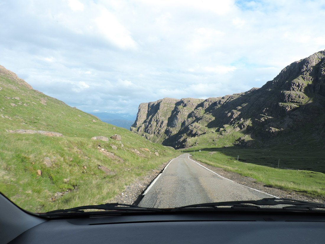 Car window Scotland Bealach na Ba Road