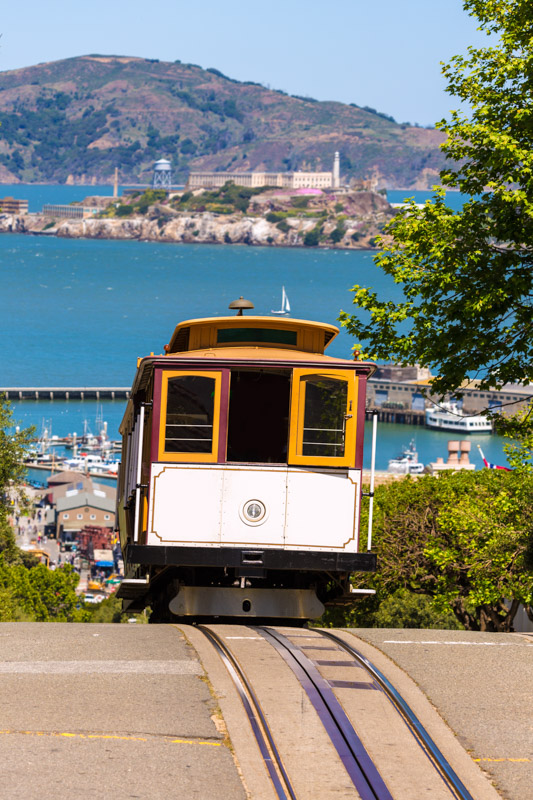Trolly riding in San Francisco