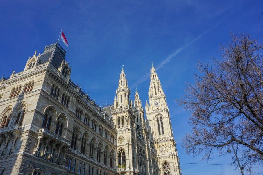 Vienna Rathaus Blue Skies