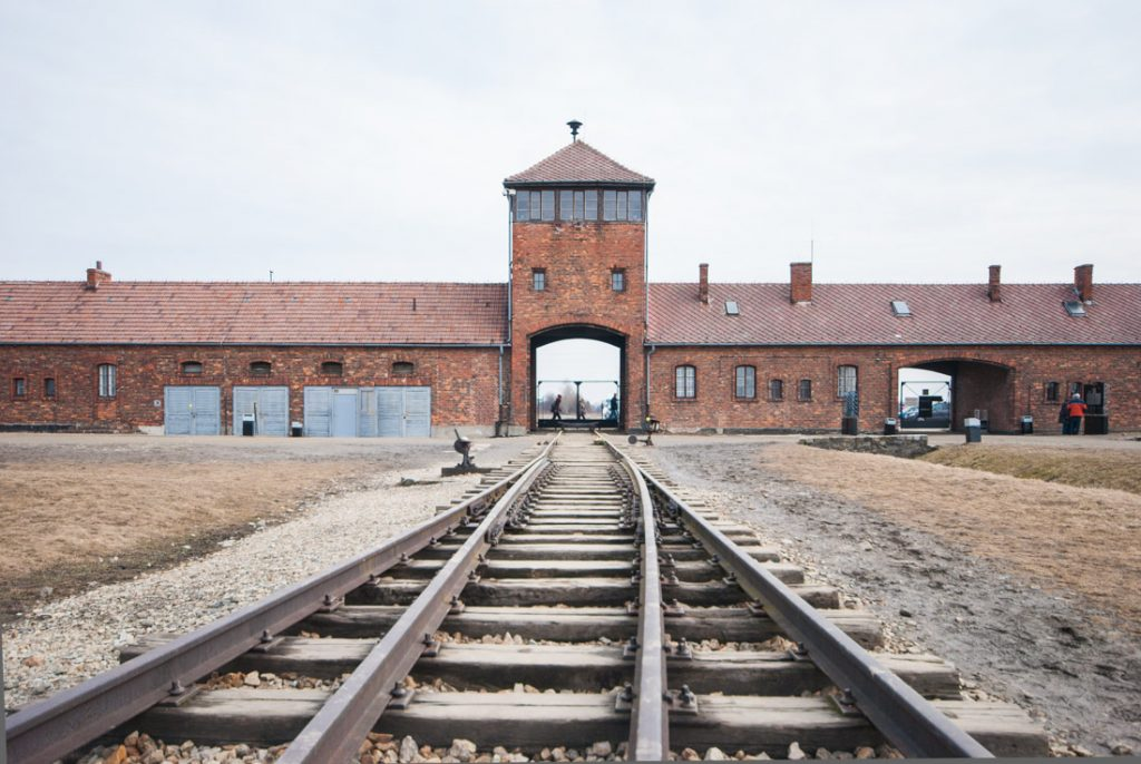 Auschwitz train tracks