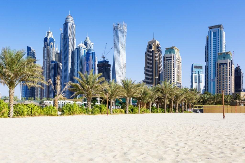 Beach Dubai Skyline