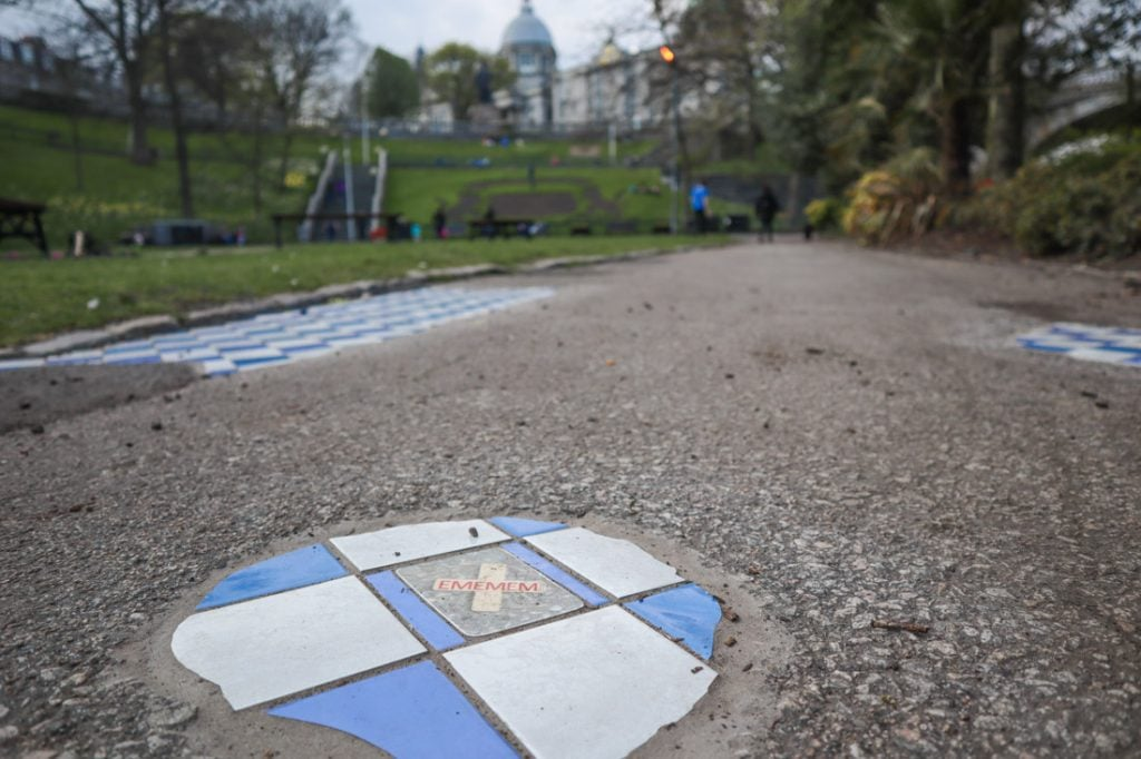 EMEMEM Mosiacs Nuart Aberdeen Union Terrace Gardens