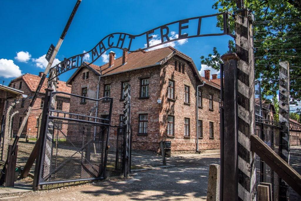 How to get to Auschwitz. Gate Poland
