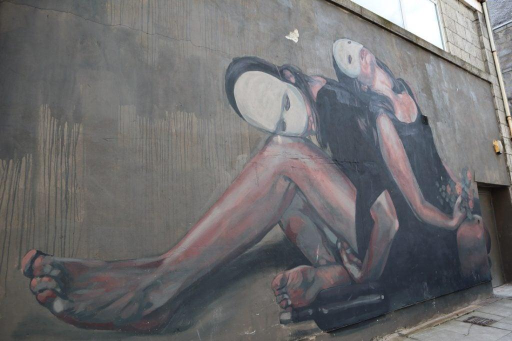 Milu Correch Masked Girls Street Art Union Row Aberdeen