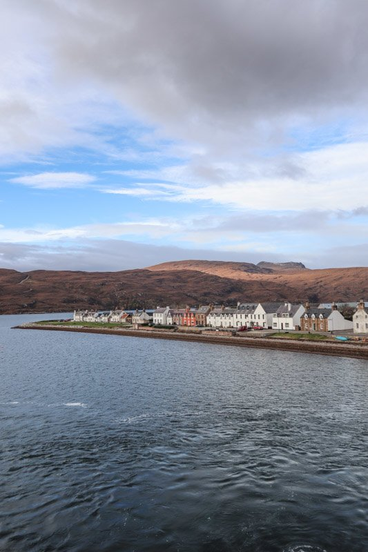 Ullapool, houses, sea, sky, mountain_