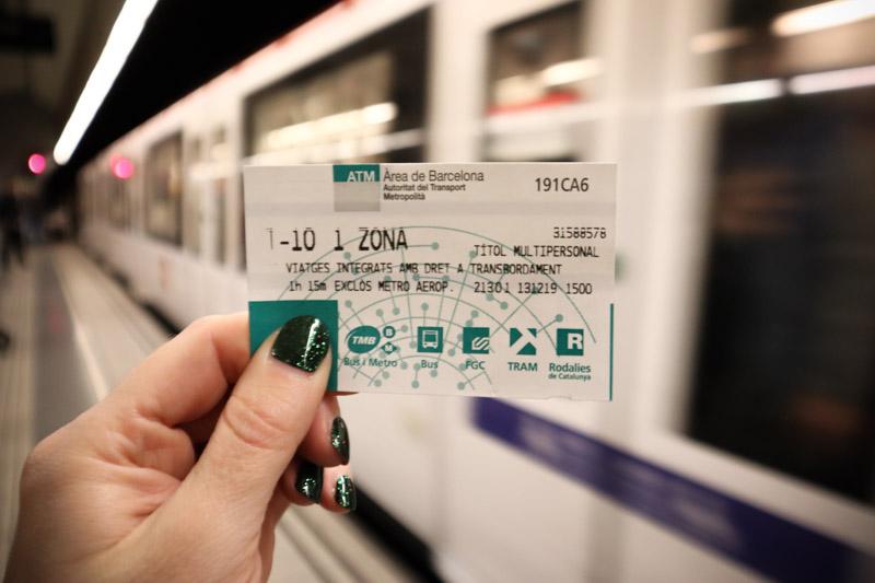 Barcelona Metro Ticket