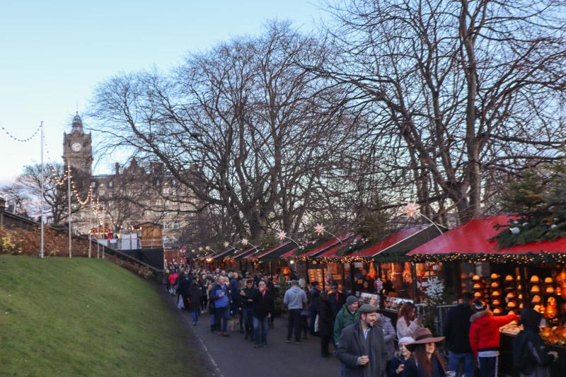 Edinburgh Christmas Market Stalls