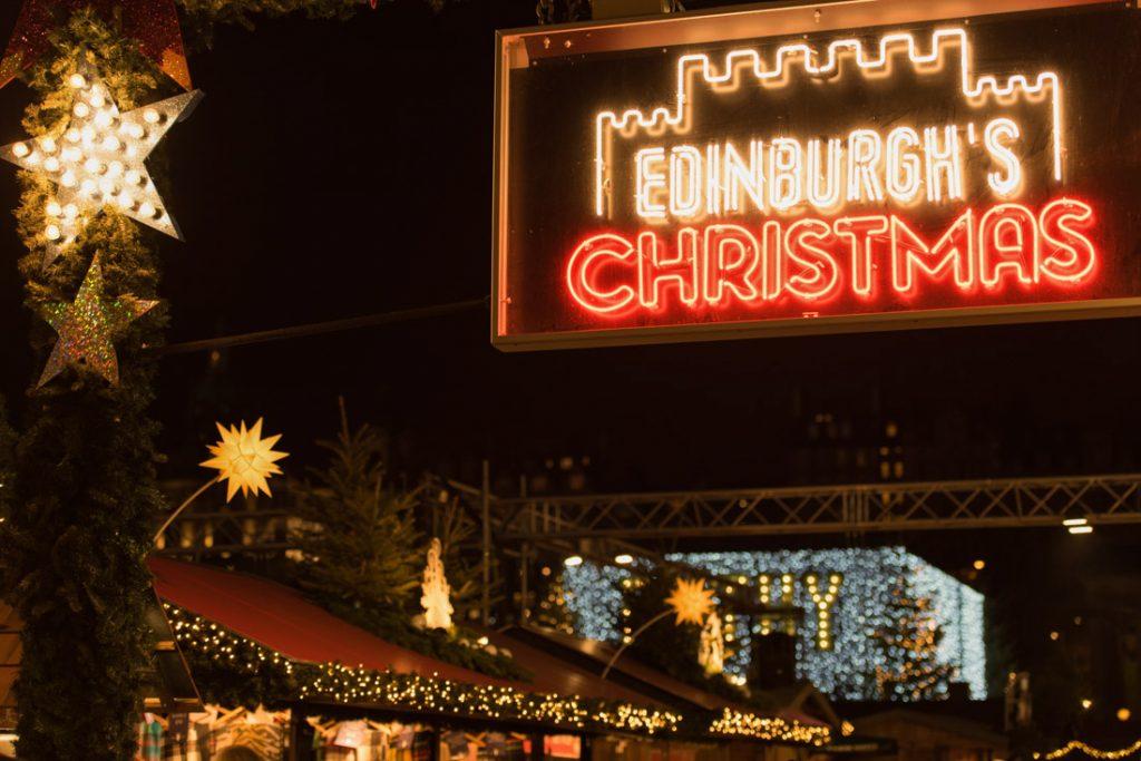 Edinburgh Christmas Sign Market Things to do in Edinburgh in winter
