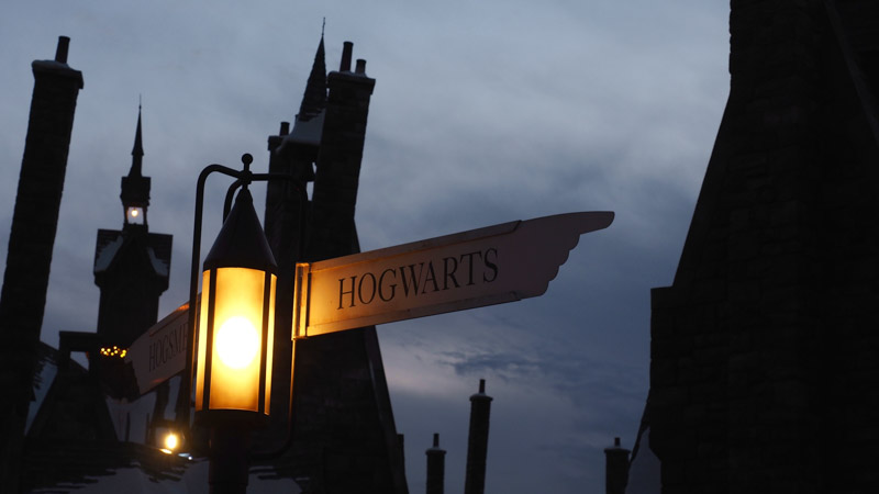 Hogwarts street sign and lamp
