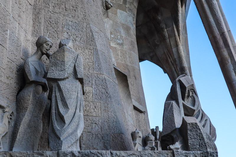La Sagrada Familia Religious Sculptures_