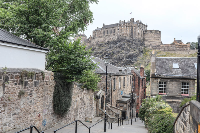 Edinburgh Castle from the Vennell