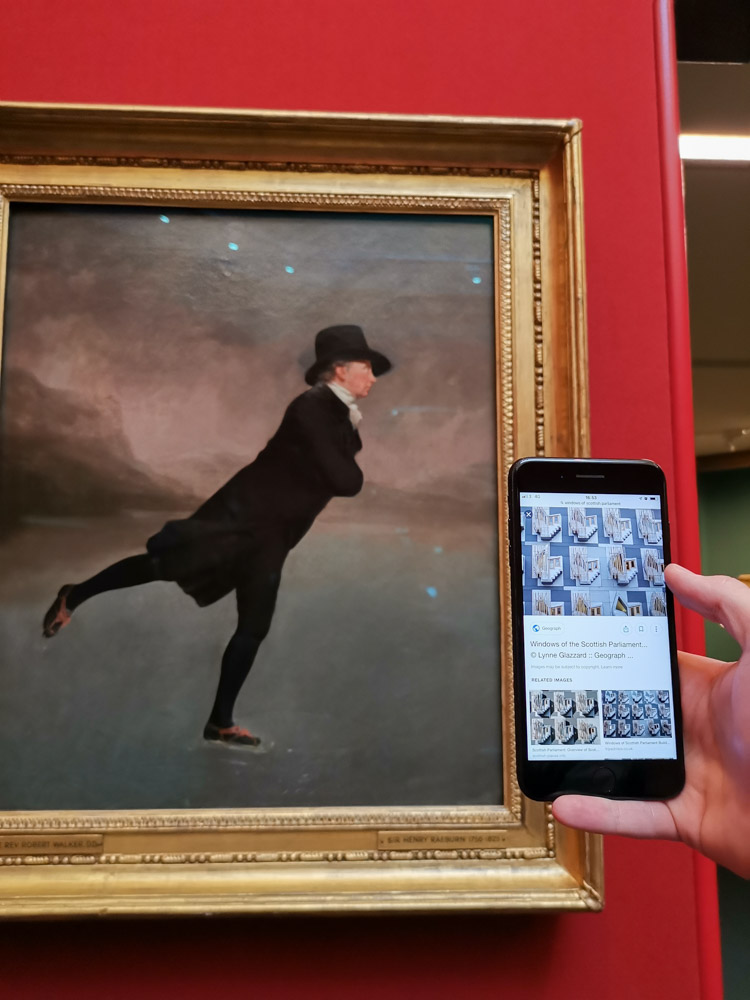 The Skating Minister painting Edinburgh