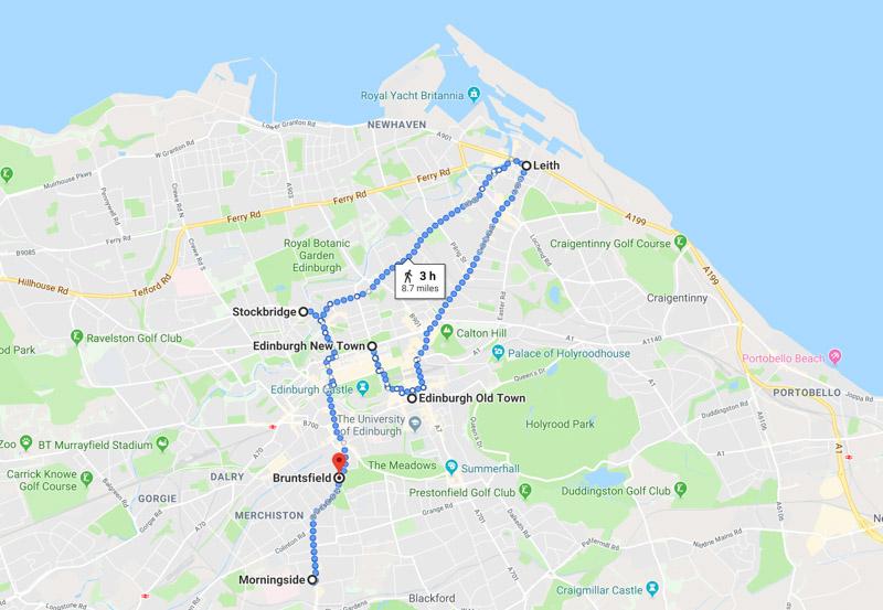 Where to Stay in Edinburgh Map