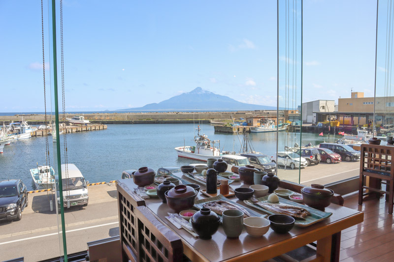 Rebun Restaurant seafront views