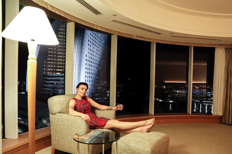 Yokohama Bay Hotel Night Room