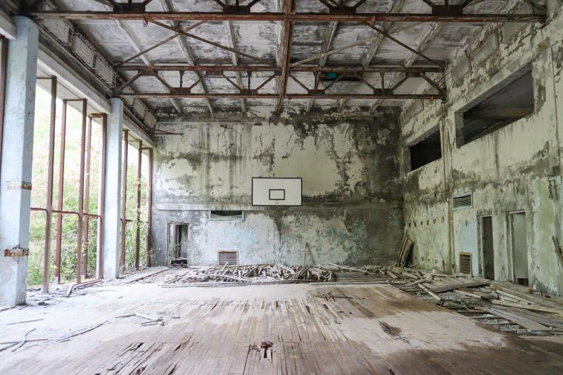 Basketball Court Azure Swimming Pool Chernobyl Image_