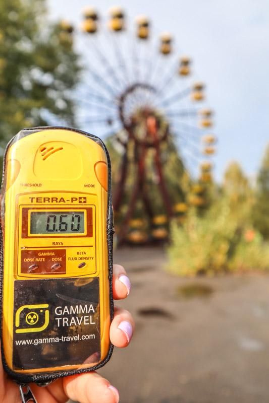 Ferris Wheel in Chernobyl Geiger Counter_