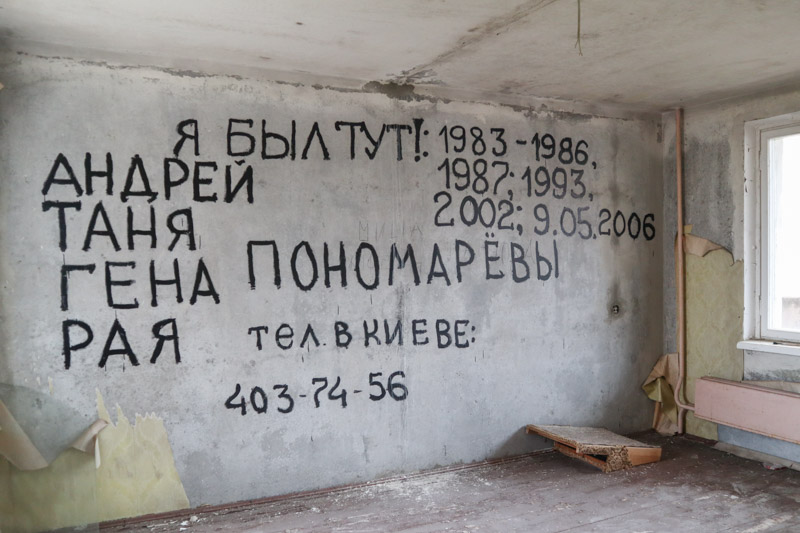 Pripyat Apartments Graffiti