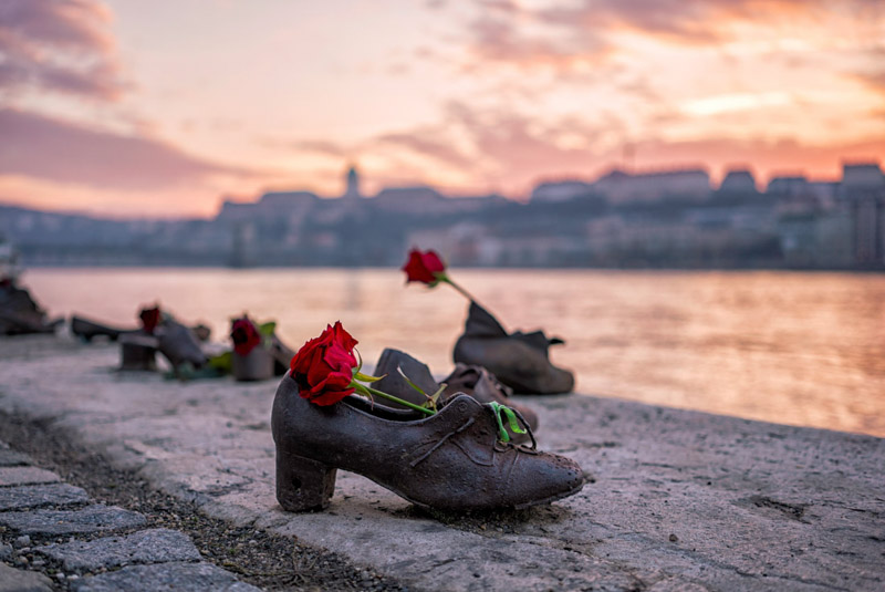 Jewish shoes River Danube Budapest