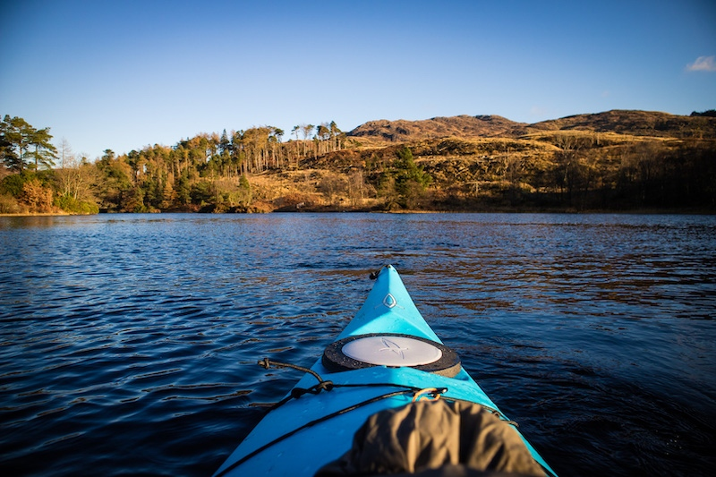 Kayaking on Loch Trool - GSA Biosphere - Photo by Kathi Kamleitner