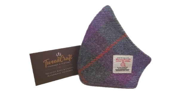 Harris Tweed Face Covering Mask